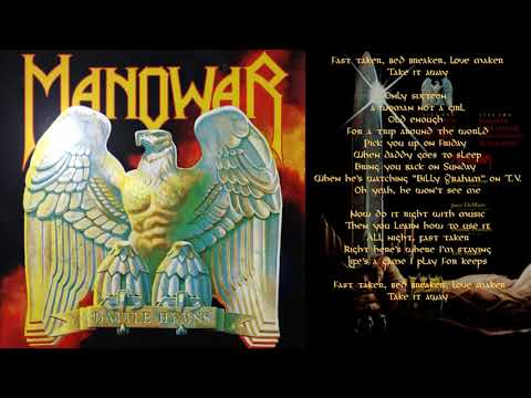 Manowar – Fast Taker - Lyric Video