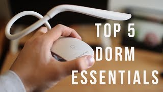 Top 5 Dorm Essentials