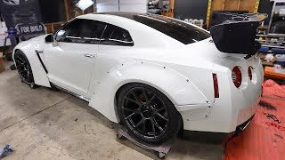 The GTR gets a Carbon Fiber Wing and Some New Wheels!