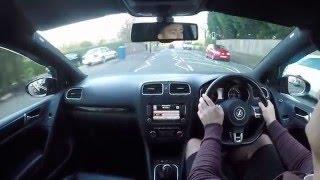 VW Mk6 GOLF GTI - REVIEW DRIVE POV GO PRO UK