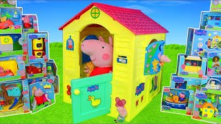 Peppa Pig Unboxing: Playhouse w/ Kitchen, Toy Vehicles & Surprise Play Toys for Kids