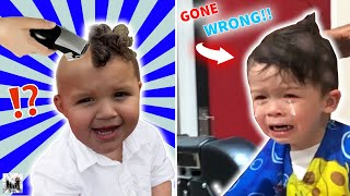 2 YEAR OLDS FIRST HAIRCUT GONE HORRIBLY WRONG?! DINGLE HOPPERZ VLOG
