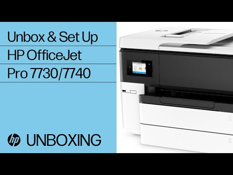 Unboxing and Setting Up the HP OfficeJet Pro 7740 Printer