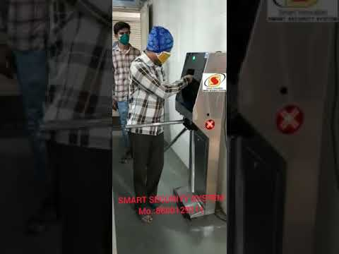SmartTek Tripod Turnstile With Sanitizer Dispenser