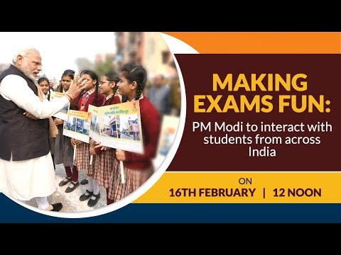 Making Exams Fun: PM Modi to interact with students from across India