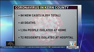 Kern Public Health: 84 new COVID-19 cases, 4,059 total