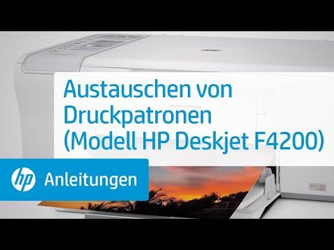Austauschen von Druckpatronen (Modell HP Deskjet F4200)