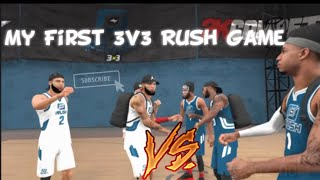 HERE'S HOW MY FIRST 2K 3v3 RUSH GAME WENT!!
