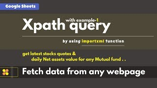 Xpath query to fetch data from any Web page