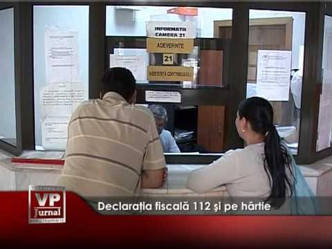 Declaraţia fiscală 112 şi pe hârtie