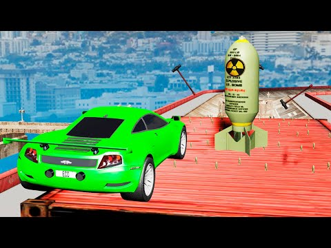 EXPERIMENT - Cars vs Nuclear Bombs #15 - BeamNG Drive   CrashTherapy