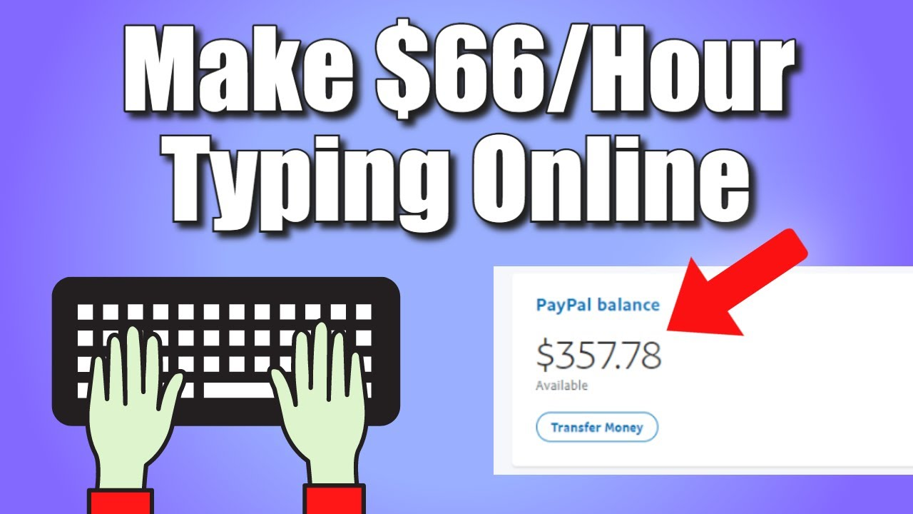 Make money $66.00 Per Hour Typing Online (FREE)! ONLINE TYPING JOBS - How to Earn Money Online thumbnail