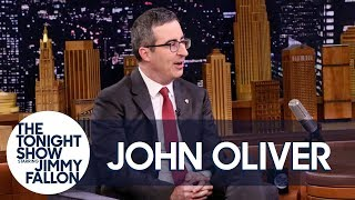 John Oliver chats with Jimmy about his toddler son throwing up all over his homeland of England and what it was like answering phones for a guy who sold stolen kitchen equipment.  Subscribe NOW to The Tonight Show Starring Jimmy Fallon: http://bit.ly/1nwT1aN  Watch The Tonight Show Starring Jimmy Fallon Weeknights 11:35/10:35c Get more Jimmy Fallon:  Follow Jimmy: http://Twitter.com/JimmyFallon Like Jimmy: https://Facebook.com/JimmyFallon  Get more The Tonight Show Starring Jimmy Fallon:  Follow The Tonight Show: http://Twitter.com/FallonTonight Like The Tonight Show: https://Facebook.com/FallonTonight The Tonight Show Tumblr: http://fallontonight.tumblr.com/  Get more NBC:  NBC YouTube: http://bit.ly/1dM1qBH Like NBC: http://Facebook.com/NBC Follow NBC: http://Twitter.com/NBC NBC Tumblr: http://nbctv.tumblr.com/ NBC Google+: https://plus.google.com/+NBC/posts  The Tonight Show Starring Jimmy Fallon features hilarious highlights from the show including: comedy sketches, music parodies, celebrity interviews, ridiculous games, and, of course, Jimmy's Thank You Notes and hashtags! You'll also find behind the scenes videos and other great web exclusives.  John Oliver Worked the Phones at a Place that Sold Stolen Goods http://www.youtube.com/fallontonight