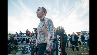 TATTOO MASTER against Fighter Without Rules!! Classy Fight!!