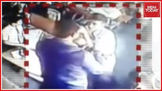 Teacher Caught On Camera Brutally Beating And Thrashing Class 7th Student