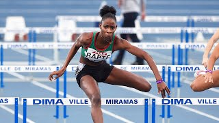 Miramas 2021 : Finale 60 m haies F (Laeticia Bapte en 7''93)