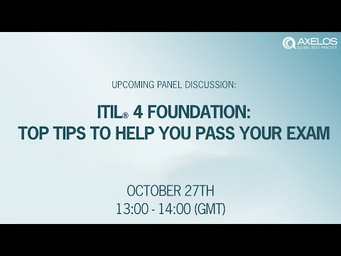 ITIL® 4 Foundation – TOP TIPS to help you pass your exam - YouTube