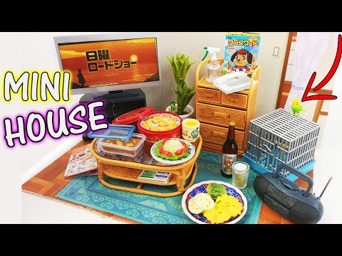 MINIATURE DOLLHOUSE ROOM FURNITURE REMENT how to decorate craft diy home