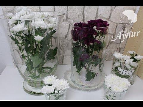 Deko Tipps I Mit wenig Blumen volle Vasen dekorieren I Az cicekle dolu vazolar süslemek