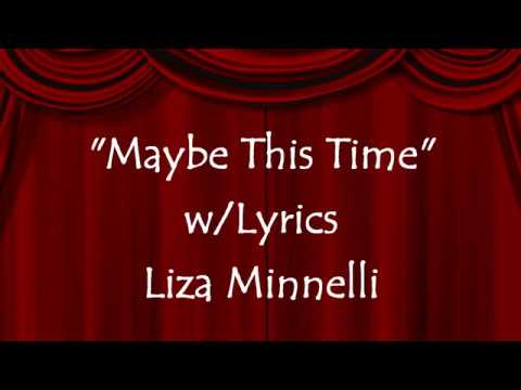 Maybe This Time (Lyrics On Screen) Liza Minnelli, Cabaret Lyrics