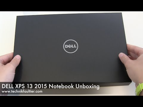 DELL XPS 13 2015 Notebook Unboxing