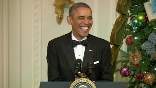 Watch Obama crack himself up