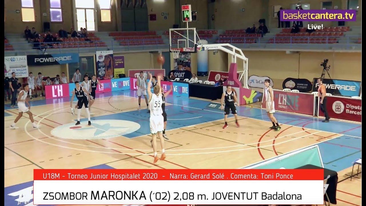 ZSOMBOR MARONKA (´02) Joventut 2.08 m. Torneo U18 Hospitalet (BasketCantera.TV)