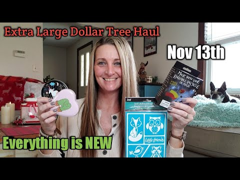 EXTRA LARGE Dollar Tree Haul/EVERYTHING Is NEW❣Nov 13th