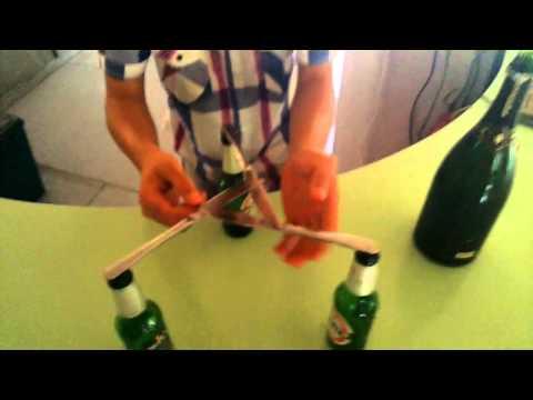 Trucco coltelli e bottiglia Cameriere Lupo Cattivo