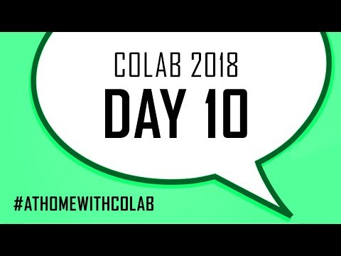 COLAB 2018 - DAY 10