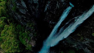Diving waterfalls in the maggia valley with the dji fpv drone