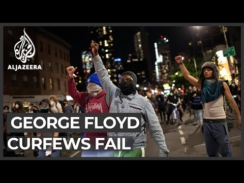 George Floyd protests: Curfews fail to deter demonstrators