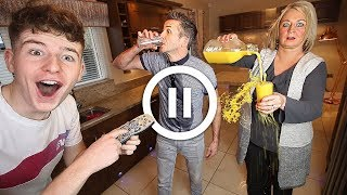 The PAUSE Challenge with my PARENTS for 24 HOURS!! (FREEZE CHALLENGE) **bad idea**