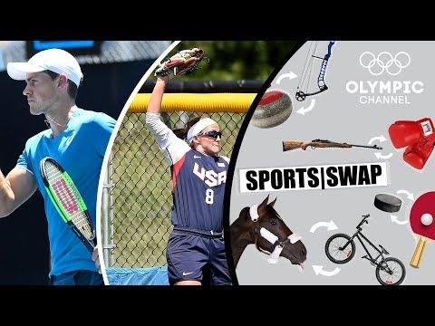 Tennis vs Softball with Vasek Pospisil & Haylie McCleney | Sports Swap Challenge
