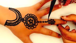 Gambar Henna Simple Yang Mudah Ditiru Brad Erva Doce Info