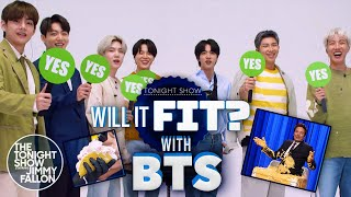 Will It Fit? with BTS | The Tonight Show Starring Jimmy Fallon