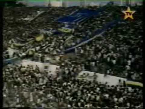 """""""LA BARRA DE BOCA EN AVELLANEDA 1992,JOSE BARRITA,40000 DE VISITANTE,CRAZY HOOLIGANS OF BOCA JUNIORS"""" Barra: La 12 • Club: Boca Juniors • País: Argentina"""