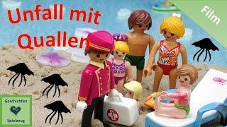Playmobil Film Deutsch UNFALL MIT QUALLEN AM STRAND ♡ Playmobil Geschichten Mit Familie Miller
