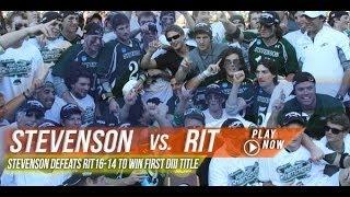 Stevenson vs RIT   2013 DIII National Title Game