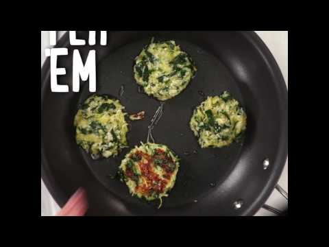 How to Make Spaghetti Squash Fritters with Sriracha Mayonnaise