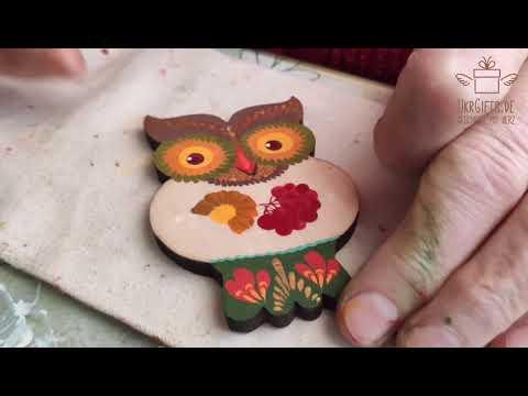 Hegehog, rabbit - christmas tree ornaments -hand painted on wood
