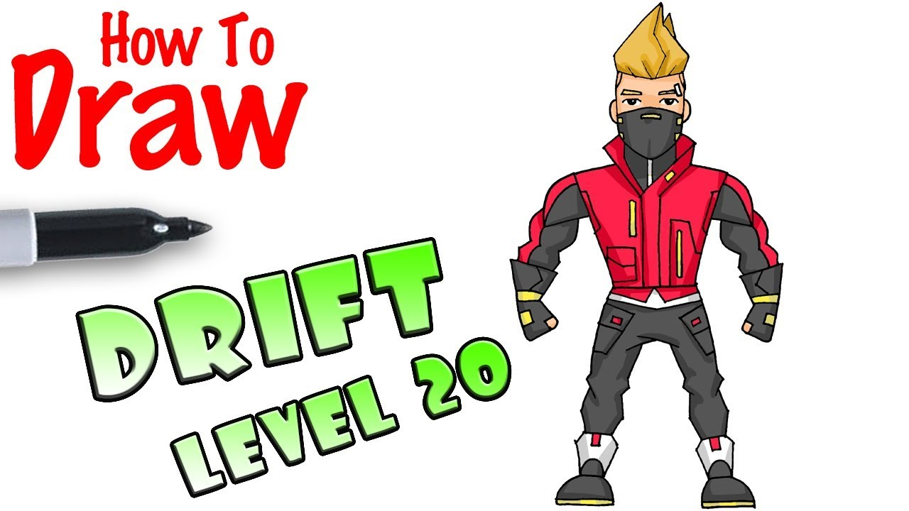 How To Draw Drift Tier 20 Fortnite Youtube