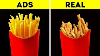 FOOD IN COMMERCIALS VS. IN REAL LIFE