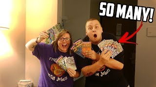 WE BOUGHT EVERY LOTTERY TICKET IN THE MACHINE! I Spent $100 On Lottery Tickets