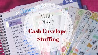 NEW SINKING FUNDS! CASH Envelope Stuffing! || January 2010 - Week 2 || Dave Ramsey Inspired