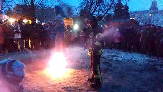 Краматорск Реальность - Курьез во время сжигания чучела на Масленицу | Kholo.pk