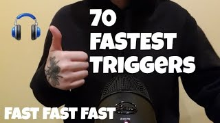 ASMR 70 FASTEST TRIGGERS IN 9:30 MINUTES NO EDIT