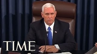 The Senate Just Voted To Start Debating Health Care After Vice President Pence Uses Tie-break | TIME