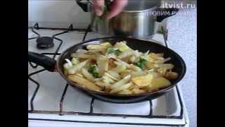 Картошка с салом. Готовим руками.