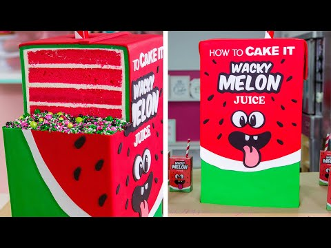 GIANT Juice Box Cake with JUICE INSIDE!!   How To Cake It